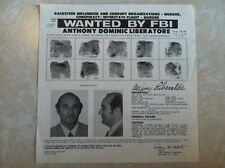 "ANTHONY ""TONY LIB"" LIBERATORE MAFIA BOSS FBI WANTED POSTER *PLS MAKE BEST OFFER*"