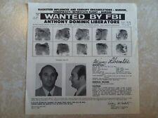 "ANTHONY ""TONY LIB"" LIBERATORE MAFIA BOSS FBI WANTED POSTER *PLS MAKE BEST OFFER*"