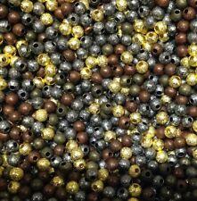 Mixed colourr metallo Stardust Perline 4 mm x 100