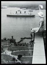 Bettmann New York Harbour 1927 Poster Bild Kunstdruck im Alu Rahmen 70x50cm
