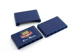 3 LEGO Dark Blue Windscreen 1 x 6 x 3 one City Bank Panel from 3661 (64453)