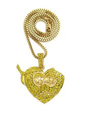 """NEW ICED OUT CHIEF KEEF THOT BREAKER PIECE WITH 24"""" BOX CHAIN"""