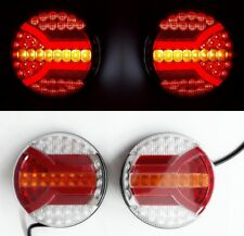 LED Round Rear Lights Tail Lamps Smart/Dynamic/Progressive DI Truck Trailer Bus