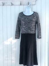 Nine West Women's S Sweater Dress Knit Black + Silver Sequins Work NWT MSRP$99 d