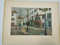 Maurice Utrillo Place Du Tertre (about 1911-1912) - building street scene