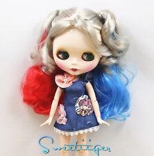 "Takara 12"" Neo Blythe Harley Quinn cosplay Factory Nude doll jointed body Custom"
