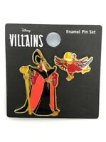Disney Aladdin Villains Loungefly Enamel Trading Pin Set - Jafar & Iago Bird