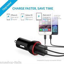 Anker PowerDrive 2 Lite - Caricabatterie da Auto 12W a 2 porte USB, Nero