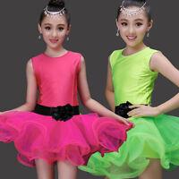 Girls Ballet dress Latin Dancing costumes Child's Kids BallroomSalsa dancewear
