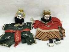Pair Of Old Chinese Hand Puppets