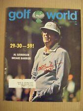 AL GEIBERGER signed Mr 59 1977 GOLF WORLD magazine AUTO Autographed USC TROJANS