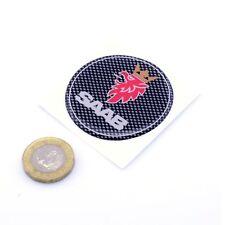 SAAB Badge Domed Gel CARBON STICKER Decal Car Vinyl 50mm Wheel Centre Sticker