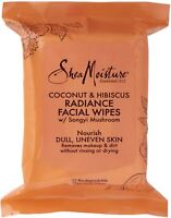 Shea Moisture Coconut - Hibiscus Facial Wipes 30 ea (Pack of 2)