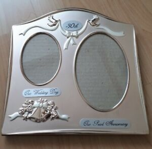 30th Anniversary Our wedding day & Pearl Anniversary Double Twin Photo Frame