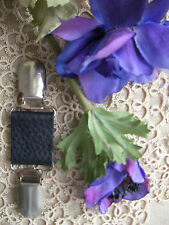 Veste/Pull Cuir Clip ~ Gypsy/goth/boho ~ NAVY PEARL ~ 70 couleur + magnolia ~ BN