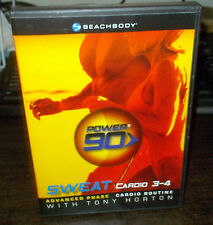 POWER 90 SWEAT Cardio 3-4 (DVD) Advanced Phase Tony Horton WORLD SHIP