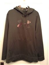 Under Armour Green Camo Storm Hoodie Pullover Mens LARGE Loose Hunting Fishing