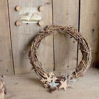 10/15/20cm Wicker Garland Hanging Round Wreath Rattan Wreath Wedding Party Decor