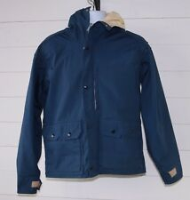Vintage Kelty Men's S Blue Hooded Zip Front Hard Shell Gore-Tex Jacket USA