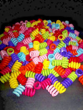 NEW!!!! 50 3/4' 'Opaque Acrylic Spring Beads- 3/8'' HOLE Bird Toy Parts