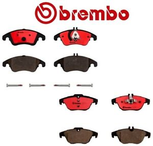 For Mercedes-Benz W204 C300 E350 Front and Rear Ceramic Brake Pads Kit Brembo