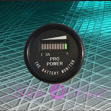 12 Volt Battery Indicator, Meter Marine Trolling Motor, Solar PRO12-48M