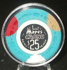 (1) $25. Mapes Casino Chip - 1969 - Reno, Nevada