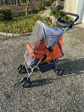 PetZip Pet Stroller - Orange Nylon Fabric with Aluminum Frame
