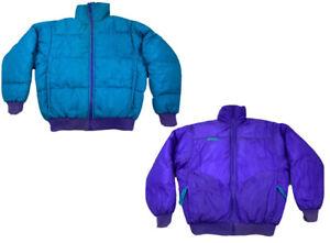 Vintage Columbia Womens Jacket Goose Down Winter Coat REVERSIBLE Purple Medium