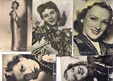 Lot de cartes postales n et b d'acteurs des années 50 et deux cartes
