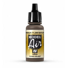 Vallejo Model Air: NATO Brown - Acrylic Paint Bottle 17ml VAL71.249