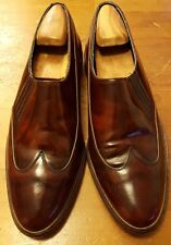 Vintage, Stacy Adams, Burnished Brown, Patent Leather, Loafer/Wing Tips (Sz 11)