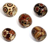 100 Mix Holz Blumen Spacer Perlen Beads 17x16mm