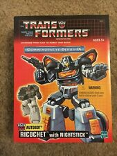 NEW TRANSFORMERS G1 GENERATION 1 - RICOCHET / STEPPER w/ NIGHTSTICK TRU REISSUE!