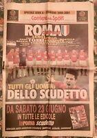 SPECIALE CORRIERE DELLO SPORT ROMA CAMPIONE D'ITALIA 2000/2001 3° SCUDETTO TOTTI