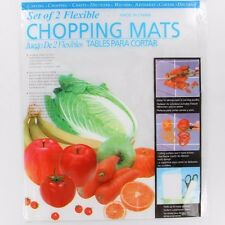 8X Flexible Chopping Mats Kitchen Plastic Fold Collapsible Chop Cutting Board