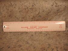 vintage old Metal Ruler ALLIED SALES COMPANY ROANOKE VIRGINIA made in U.S.A