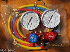 R410A R22 R134a+Manifold Gauge+5ft Hose Set HVAC Field Service Chargin Tool New