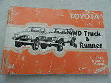 1984 Toyota 4WD Truck and 4 Runner  Owners Manual