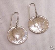 Mercury Dime Coin Earrings  .925 Sterling Silver
