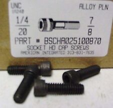 1/4-20x7/8 Hex Socket Head Cap Screws Alloy Steel Black (30)