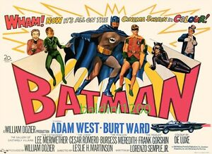VINTAGE BATMAN - AWESOME 1966 MOVIE POSTER PRINT - LOOKS GREAT FRAMED