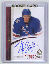 10-11 SP Authentic Derek Stepan Future Watch Auto Rookie Card RC #262 Mint /999