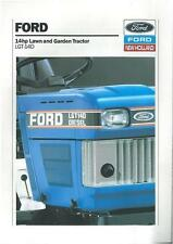 FORD LAWN AND GARDEN TRACTOR LGT-14D BROCHURE - BX104/BXF10