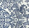New Mexican Oilcloth Fabric  Tablecloth PVC Cotton Waterproof 120 cm Blue Eden