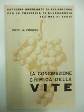 PICCHIO G., La concimazione chimica della vite
