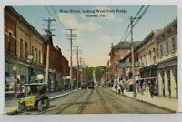 Sharon Pa State Street Looking West from Bridge c1910 Postcard N10