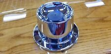 peterbilt kenworth frieghtliner chrome hub cover oil level lifetime lugnut cover