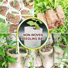 100PCS Biodegradable Non-woven Nursery Aeration Bags Fabric Seed Starter Pots