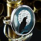 Raven Crow Gothic Halloween Handmade Silver Ring